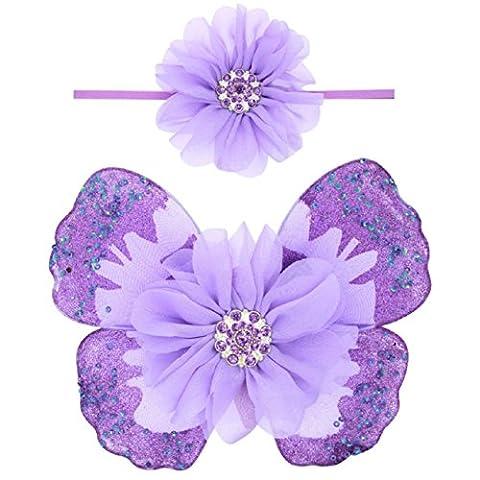 Oyedens Filles Accessoires Pour Cheveux, BéBé Ange Ailes De Papillon Photo Prop (B)