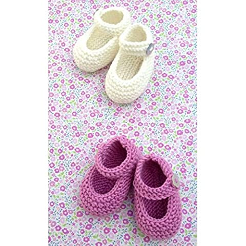 Knit Your Own Mary Jane Baby Shoes- Knitted Craft Kit - Craft Kit by Crafty Kit Company