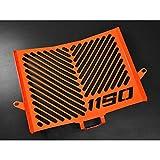 IBEX 10001722 Kühlerabdeckung Wasserkühler Kühlergrill Kühlerschutz Kühlergitter Kühlerschutzgitter Kühlerverkleidung orange Design Logo