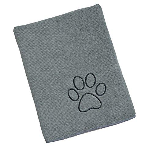 Sinland ultra saugfähiges Mikrofaser Hunde Handtuch 75 x 127 cm Grau - 7
