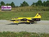 SebArt F104 EDF RTF - Gelb/Schwarz Set + Gyro von Hacker