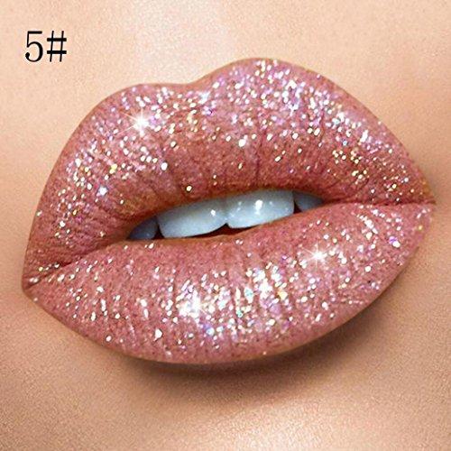18 Farben Lippenstift Matte oder Glänzend,EUZeo Schimmernd Haltbarer Lippenstift Langlebige Matte Flüssigkeit Lipgloss 1 euro (E)