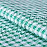 Hans-Textil-Shop Stoff Meterware Vichy Karo 5x5 mm Grün