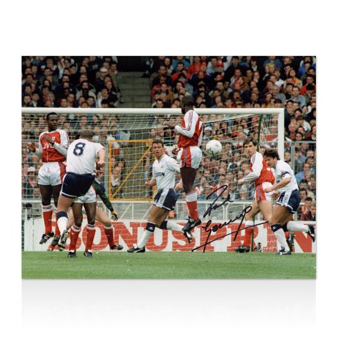 Paul-Gascoigne-Signed-Tottenham-Hotspur-Print-1991-FA-Cup-Semi-Final