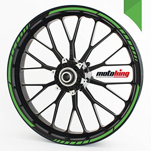 """Motoking Adesivi per il bordo del cerchione GP - verde chiaro - kit completo per cerchioni da 15"""" a 19"""""""