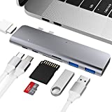 USB C Hub Adapter,Aluminum Type C Adapter, 7 in 1 USB Type C Hub mit HDMI Port, 40Gbps Thunderbolt 3,2 USB 3.0 Ports für USB C Devices