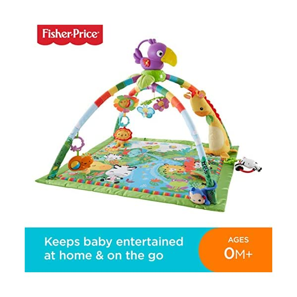Fisher-Price DFP08 Rainforest Gym, Baby Playmat with Music and Lights, Suitable from Birth for New-Borns 2