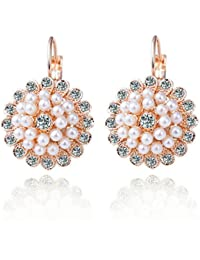 Shining Diva Fashion Jewellery Gold Plated Pearl Stylish Party Wear Earrings For Women And Girls