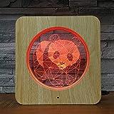 Korn-Licht des stereoskopischen hellen Kornes des Nachtlichtes 3D bunte Farblicht, einfarbiges helles Licht
