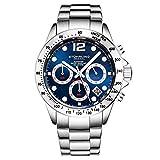 Stührling Original - Montre chronographe pour Homme, Bracelet en Acier Inoxydable...