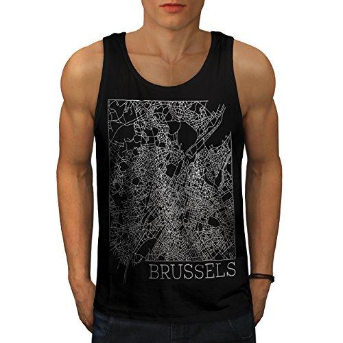 belgium-brussels-map-big-town-men-new-black-m-tank-top-wellcoda