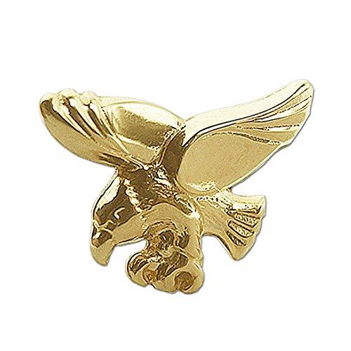 Clever Schmuck Goldener einzelner Herren Single Ohrstecker 9 x 7 mm fliegender Adler glänzend 333 GOLD 8 KARAT (Adler 7)