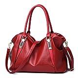 Designer Frauen Handtasche Weibliche PU Ledertaschen Handtaschen Damen Portable Umhängetasche Büro Damen Tasche Totes Red 32x27x10cm