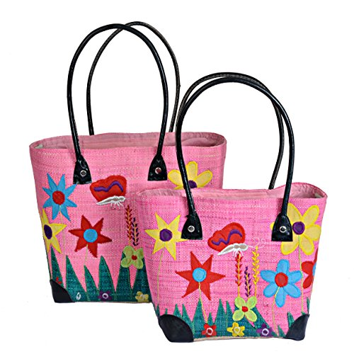 Mimosastyle, Borsa tote donna multicolore Multicoloured Pink