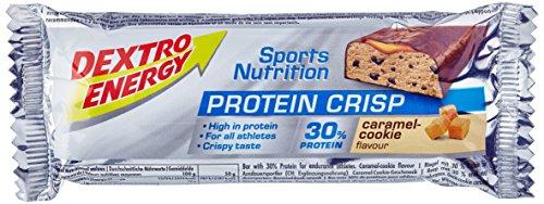 Dextro Energy Protein Crisp Caramel-Cookie Flavour / Leckerer Protein-Riegel mit 30% Eiweiß in der Geschmacksrichtung Karamel & Keks / 24 Riegel (24 x 50g)