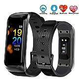 POTINO Fitness Tracker Smart Bracelet Bluetooth Montre de Sport Moniteur de fréquence Cardiaque Pression artérielle Bracelet, Noir...