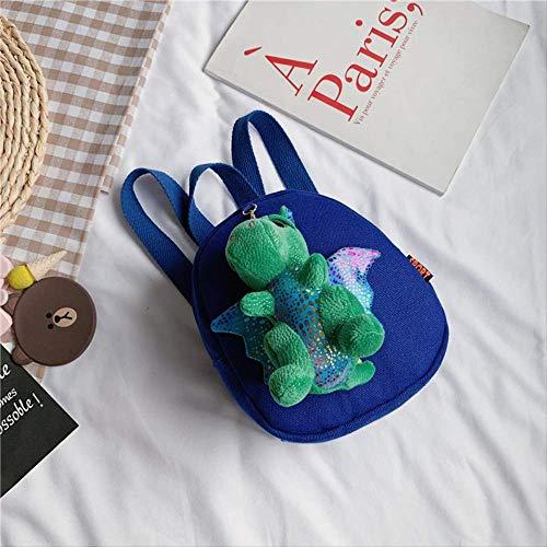 Kinder Tasche, Rucksack Süße Dinosaurier Kleine Rucksack Jungen Und Mädchen Studenten Paket Frühe Kindheit Bildung Hohe Kapazität, Unisex blau -