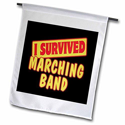 3drose FL _ 118078_ 1Ich überlebte Marching Band Survival Stolz und Humor Design Garten Flagge, 12von 18 (12 überlebte Ich)