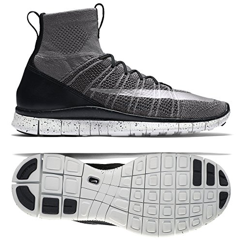 Nike Herren Free Mercurial Superfly Straßenschuhe Fußballschuhe, Grau (Dunkelgrau/Schwarz/Summit Weiß/Silber), 46 EU (Hi Grau Weiß Herren Sneakers)
