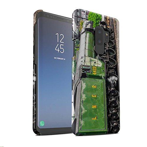 Stuff4® Matte Snap-On Hülle/Case für Samsung Galaxy S9 Plus/G965 / Scotsman/Grün Muster/Dampflokomotive Kollektion -