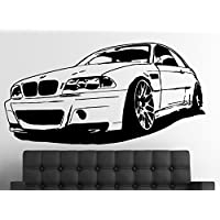 Pared Adhesivo BMW M3 CSL E46, vinilo, negro, large