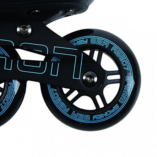SPOKEY® TARON Inline Skates | Kinder | Damen | Herren | Inline Blades | ABEC 7 Karbon | Aluminium | Größen 37-46, Farben:Blue;Größe/Size:45 -