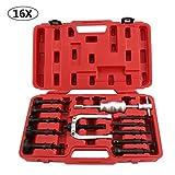 MultiWare Coffret Kit d'outils extracteur de roulement intérieur extracteur d'injecteur diesel marteau coulissant 16 pièces