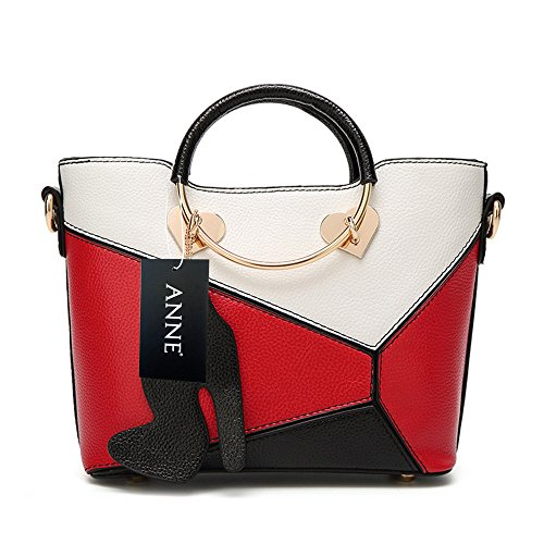 Anne, Borsa a secchiello donna nero Black Red