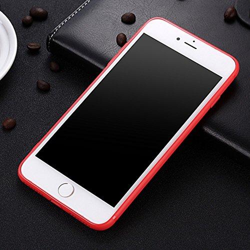 Für Apple IPhone 7 Plus weichen Rückseiten-Abdeckungs-Fall, Shockproof Anti-Kratzer Matt Matt TPU Gel-schützende Stoßdämpfer-Schale Normallack-Abdeckung ( Color : White ) White
