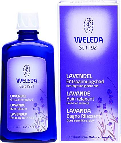 WELEDA Lavendel Entspannungsbad, Naturkosmetik Gesundheitsbad mit echtem Lavendelöl zur Beruhigung der Sinne und für guten Schlaf (1 x 200 ml) -