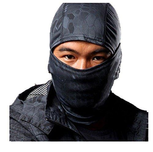 Kapuzenmütze Maske Camouflage Das Gesicht Bedeckend Militär Taktisch Ninja Kapuze Jagd Radsport Maske Camo - (Ninja Kopfbedeckung)