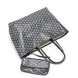 Femme classique sacs fourre-tout grande capacité imperméable décontractée Faux cuir sac hobo sac de voyage sac d'épaule sac de courses 2ways (M, grey)