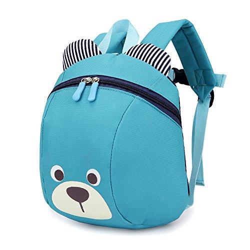 Luerme Kinderrucksack Kleinkind Jungen Mädchen Kindergartentasche Niedlich Cartoon Bär Backpack Schultasche Rucksack (Blau)