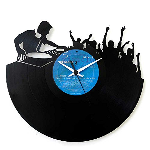 Dj idea regalo, disco orologio in vinile per dj