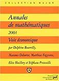 Annales de mathématiques 2001. Voie économique