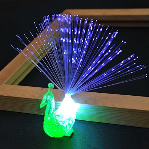 Harmonie Boden (Etbotu Finger Nacht Lichter Kinder leuchtende Spielzeug Led Lampe Flash bunte Pfau optische Faser)