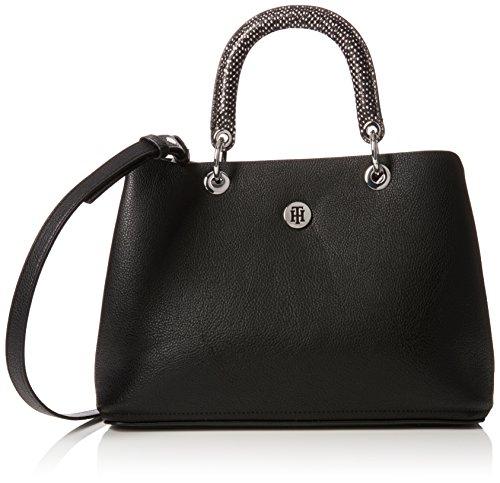 Tommy Hilfiger Damen Th Core Satchel Henkeltasche, Schwarz (Black), 15.5x23x33.5 cm (Satchel Handtasche Tasche)