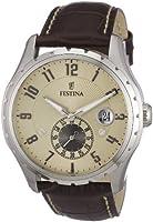 Reloj de caballero FESTINA F16486/2 de cuarzo, correa de piel color marrón de Festina