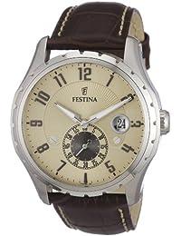 Festina - F16486/2 - Montre Homme - Quartz - Chronographe - Bracelet Cuir Marron