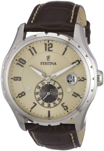 Festina Men's Watch F16486/2 With Brown Leather Strap