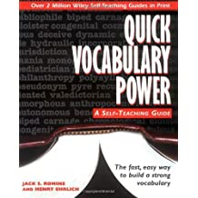 Quick Vocabulary Power: A Self-Teaching Guide by Jack S. Romine (December 08,1995)