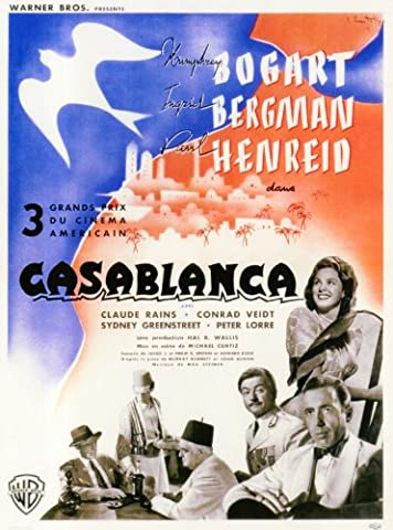 Casablanca Affiche du film Poster Movie Casablanca (11 x 17 In - 28cm x 44cm) Belgian Style A