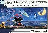 Clementoni 39449 Mickey und Minnie Puzzle Disney Panorama, 1000 Teile