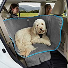 Kurgo Heather Half Hammock Seat Cover for Pets, Pet Seat Cover, Dog Car Hammock