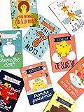 Cartes à Grandir 0-1 an - 38 cartes premières fois pour les souvenirs de bébé de la naissance à 1 an