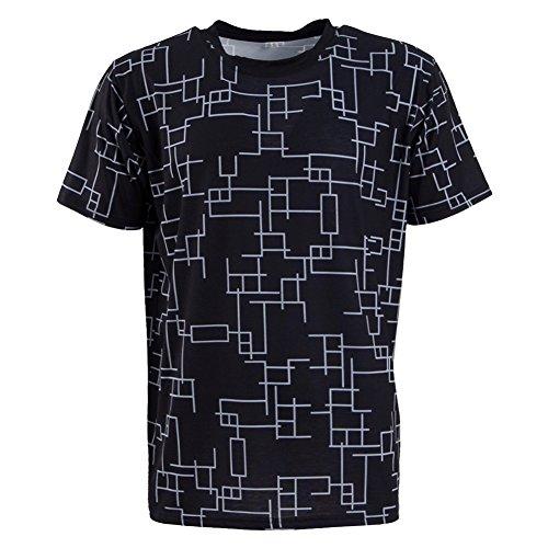 Kostüm Lucis Noctis Caelum - Zhangjianwangluokeji Herren Rundhals Ärmellos T-Shirt Kurzarm T-Shirt Cosplay Kostüm (XS, Schwarz Kurzarm 1)