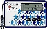Newgen Medicals Schrittezähler: Schrittzähler mit 3D-Sensor und Uhr, im Scheckkartenformat (Schrittmesser)