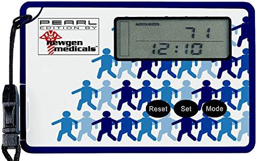 Newgen Medicals Pedometer: Schrittzähler mit 3D-Sensor und Uhr, im Scheckkartenformat (Fitness Tracker mit 3D Sensoren)