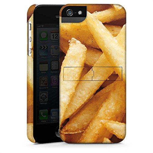 Apple iPhone X Silikon Hülle Case Schutzhülle Pommes Fritten Fast Food Premium Case StandUp