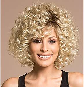 Short Curly Blonde Hair Curly Wigs For Black Women